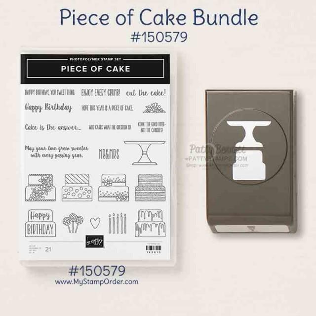 Stampin' UP! Piece of Cake bundle: stamp set and Cake Builder Punch #150579 www.MyStampOrder.com