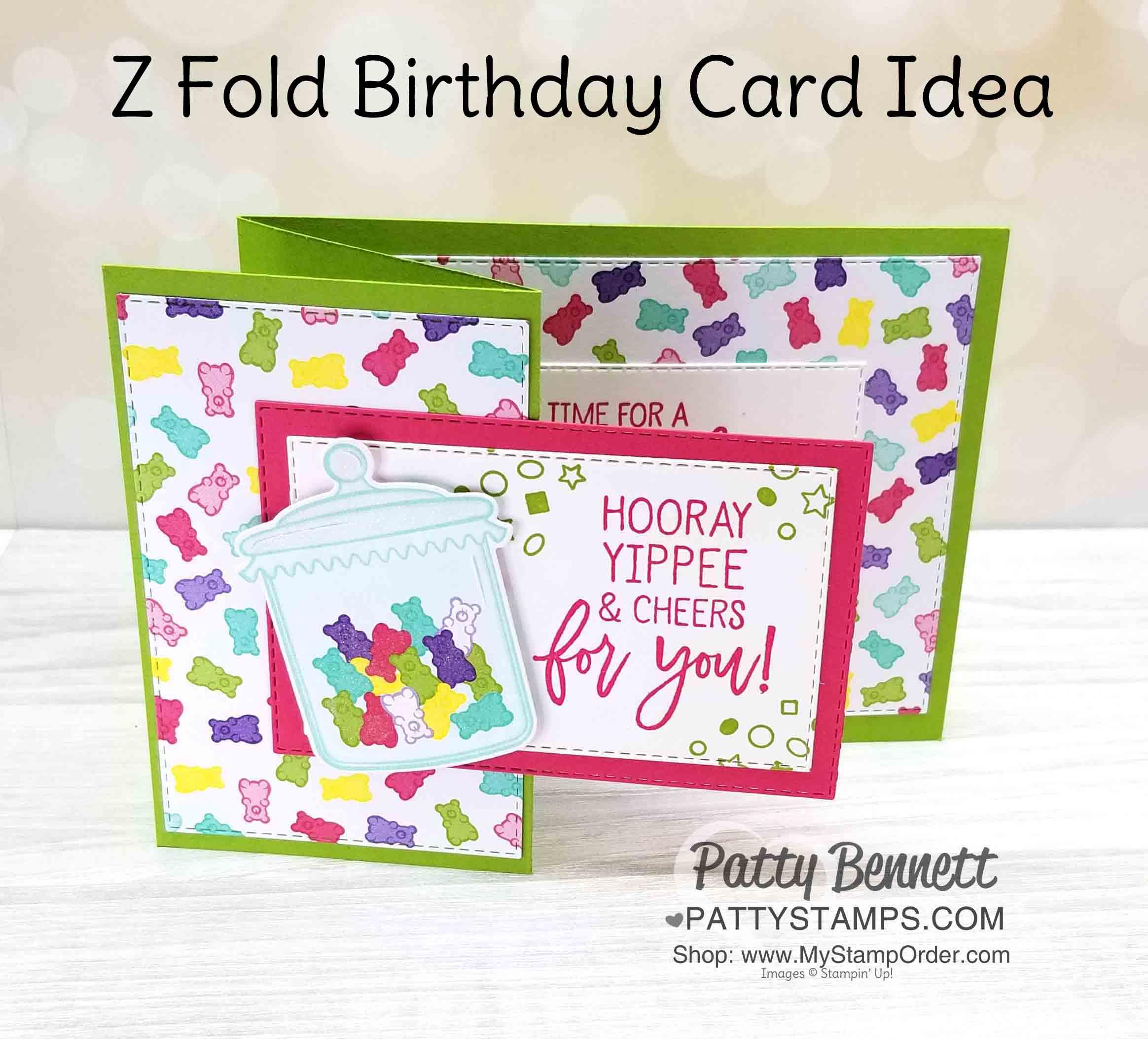 How Sweet It Is Gummy Bear Birthday Card Idea