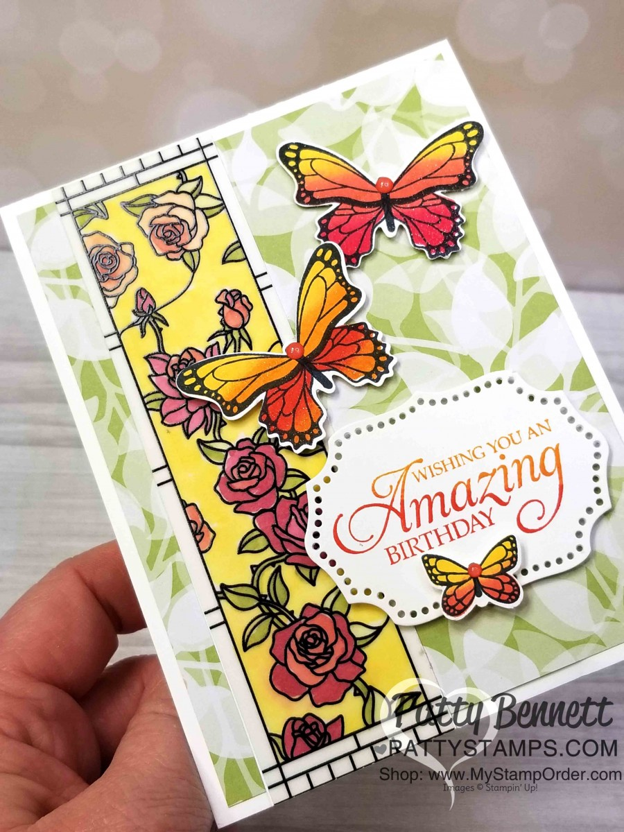 Monarch Butterfly Gala Card with Spectrum pad