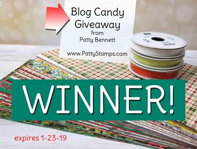 Designer Paper Blog Candy Giveaway winner from www.PattyStamps.com