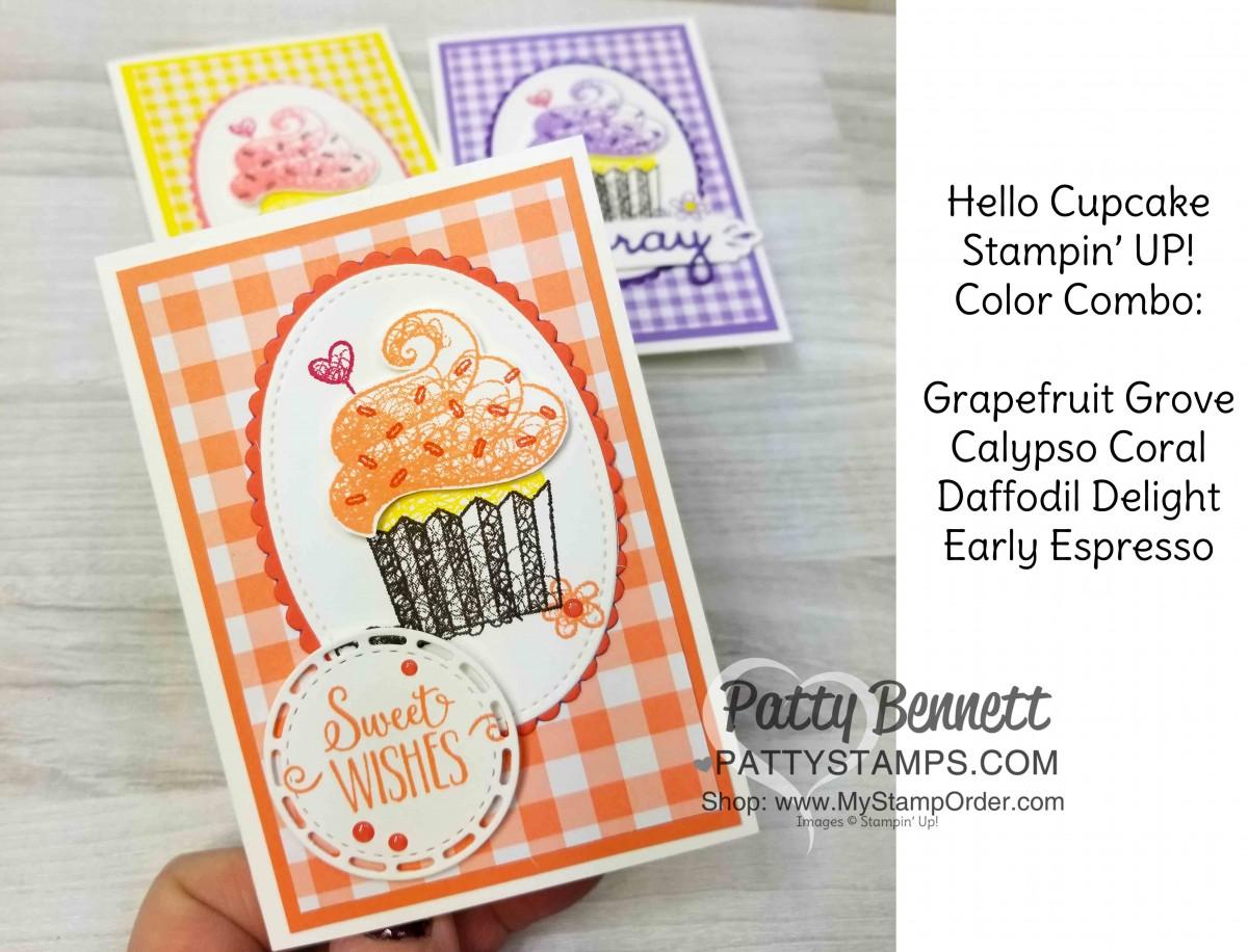 Hello Cupcake Stamp Set Birthday Card Idea Featuring Sale A
