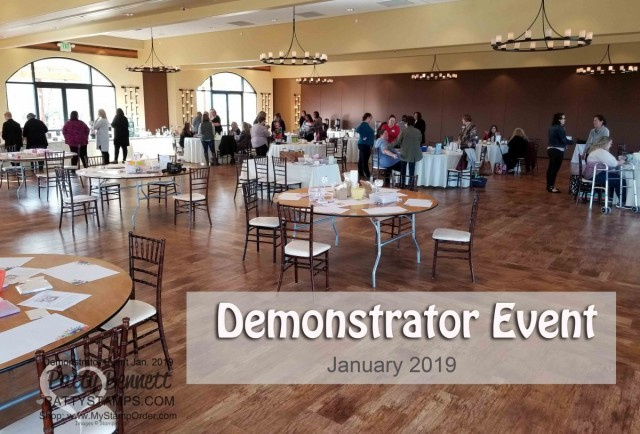 Stampin' UP! Demonstrator event January 2019 hosted by Patty Bennett & Gina Cardera. Garre Winery, Livermore, CA.