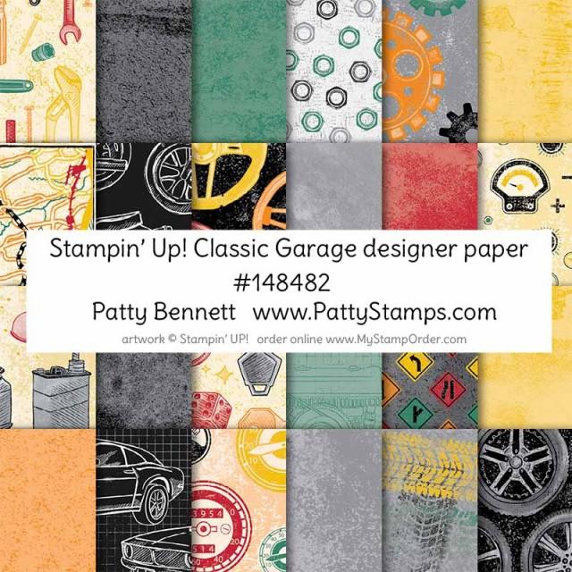 Stampin UP! Classic Garage Designer Paper #148482 shop online www.MyStampOrder.com