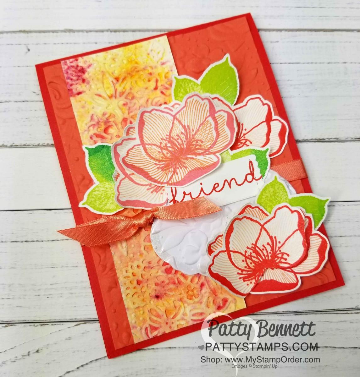 Beautiful Promenade Flower Card Idea