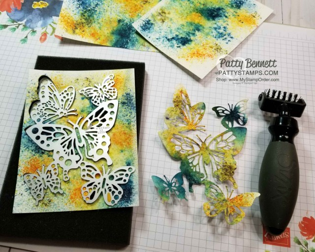 Craft Tip! Use Stampin' Up! Die Brush on detailed die cuts like this Butterfly Beauty framelit. www.PattyStamps.com