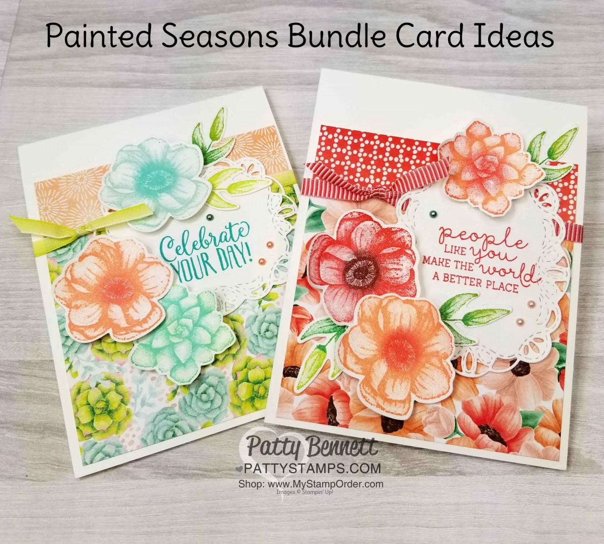 Painted Seasons Bundle card ideas
