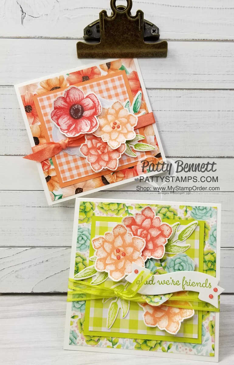 Painted Seasons & Gingham Gala Paper Cards