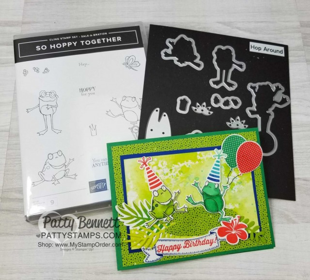 Hop Around Frog Framelits Available Patty Stamps