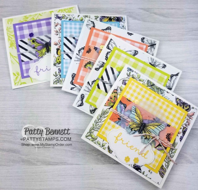 Last chance to receive the Botanical Butterfly designer paper with your $50 Sale-a-Bration order! Perfectly paired with the Butterfly Gala stamp set and punch bundle! www.PattyStamps.com