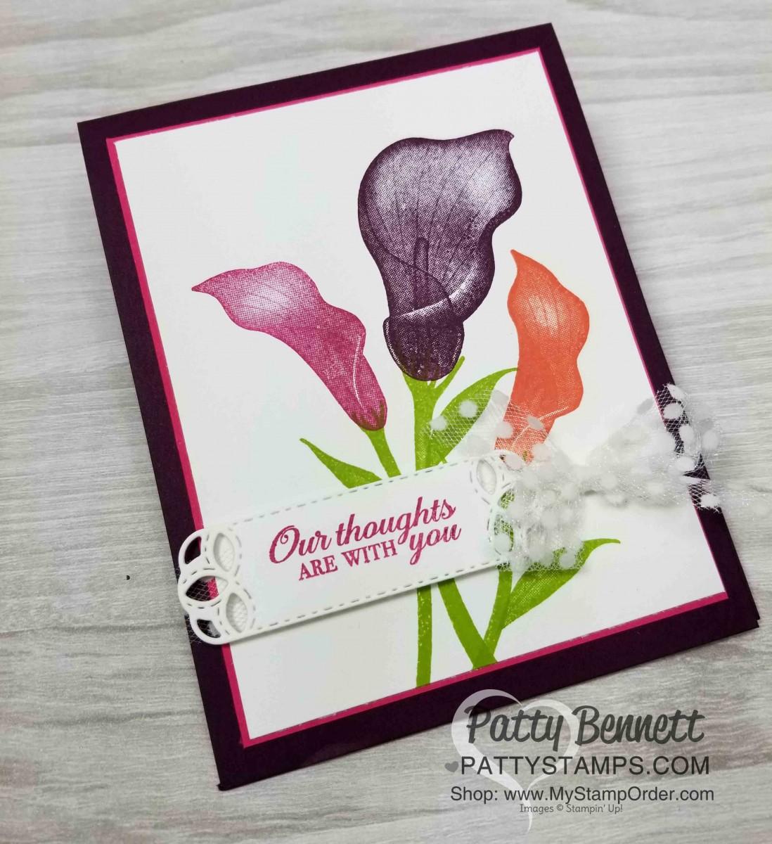 Lasting Lily Sympathy Card Idea