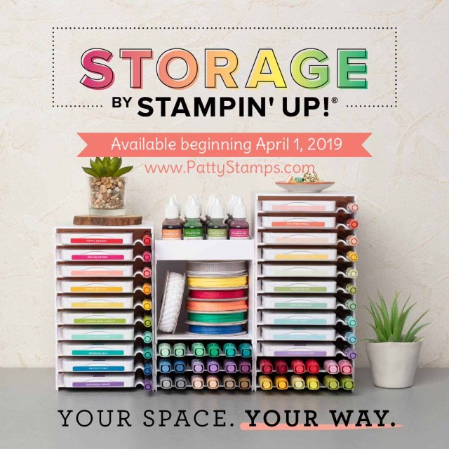 Stampin' Up! Storage for ink pads, markers, refills and Blends. Great for organizing your craft room!! www.PattyStamps.com