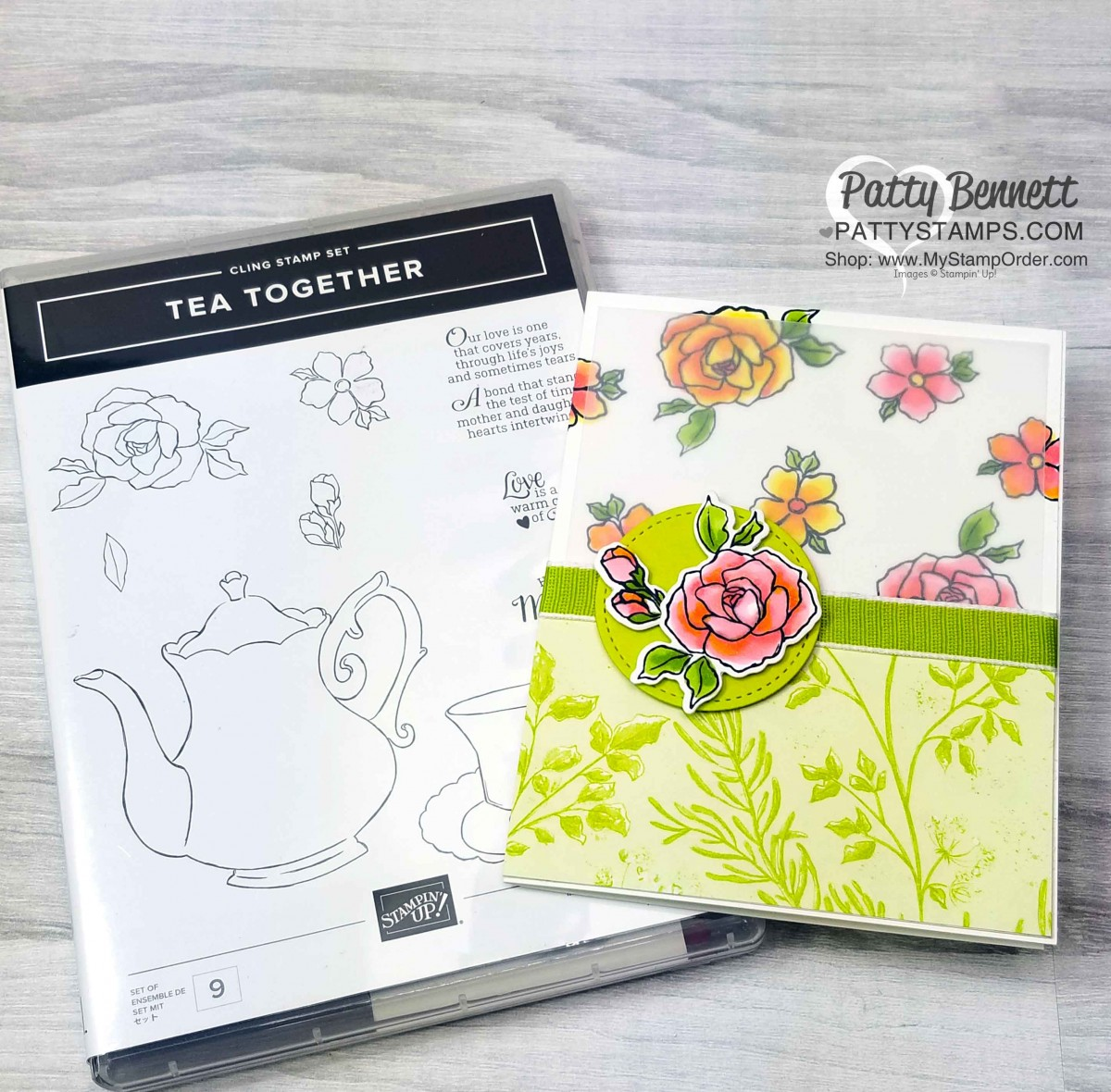 Tea Together Floral Card with Stampin' Blends