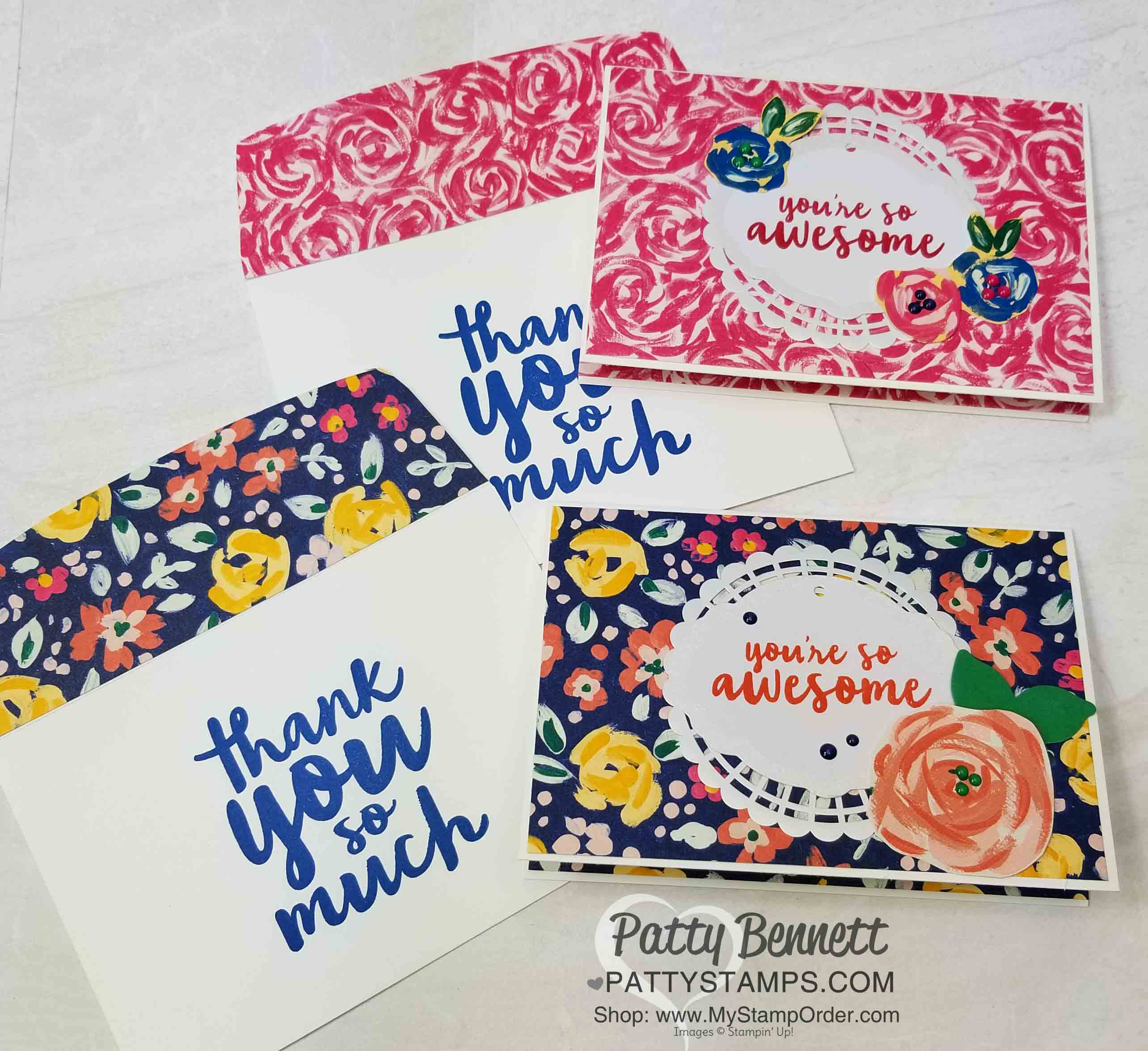 Garden Impressions Thank You Cards for OnStage