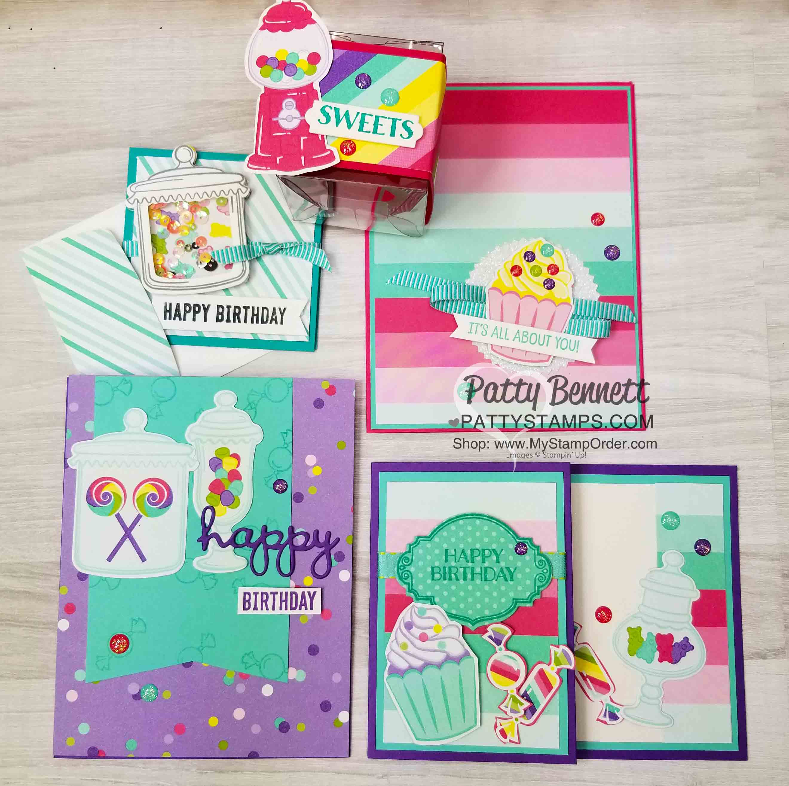 A Suite of Sweets Stampin' Up! projects