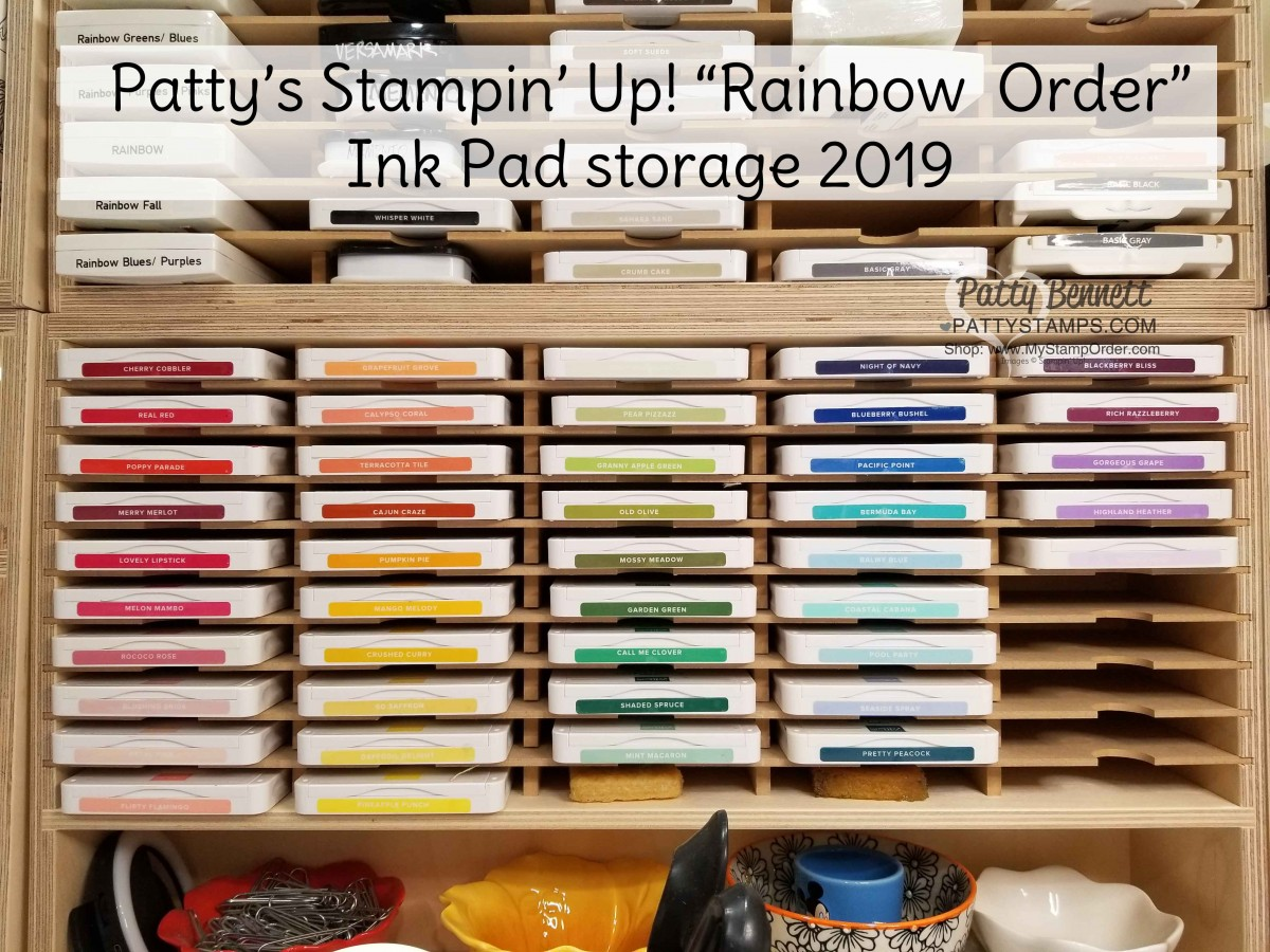 Patty's Stampin' Up! Rainbow Order Ink Pads