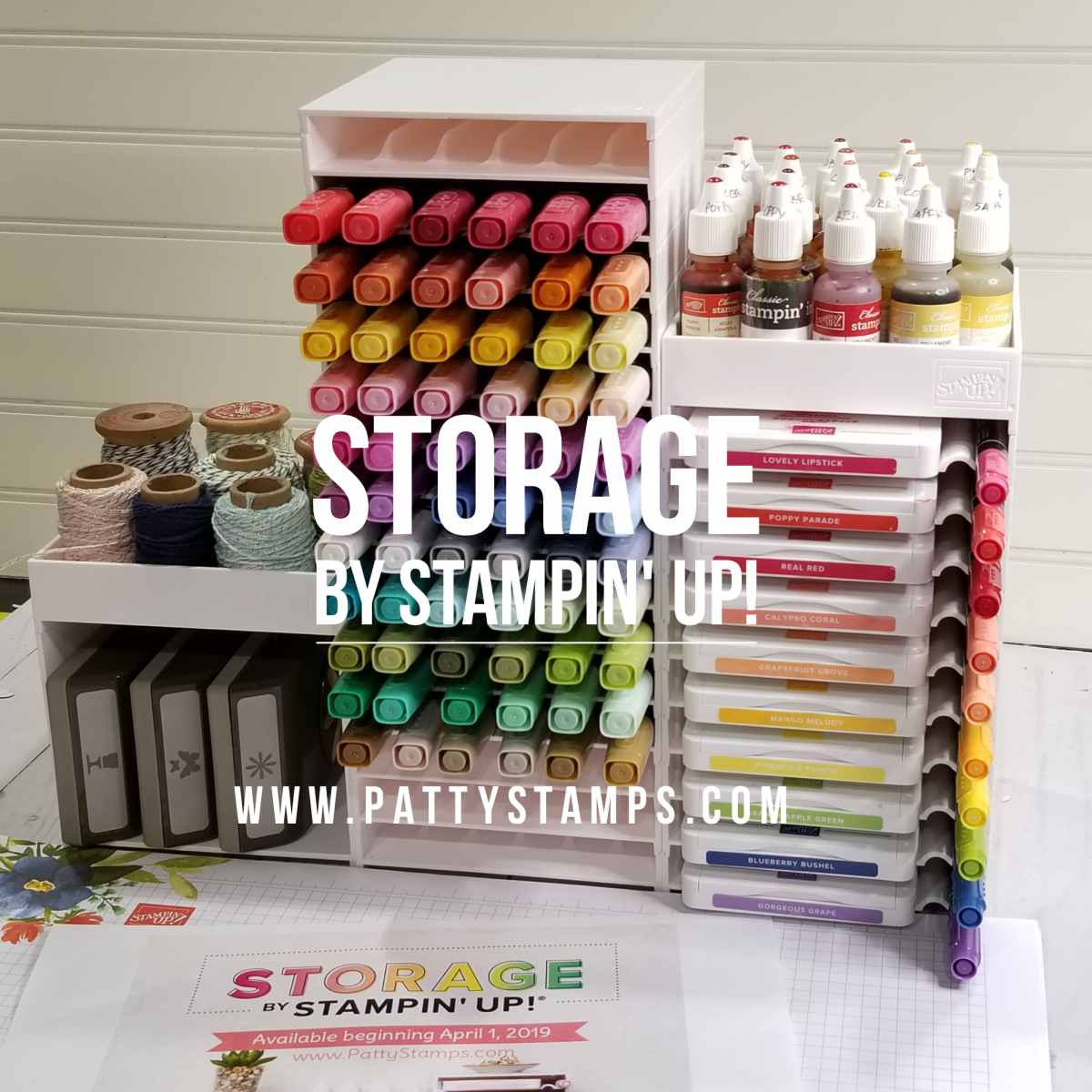 Stampin' UP! Ink Pad & Marker Storage Available