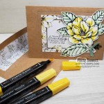 Good Morning Magnolia card idea colored with Stampin