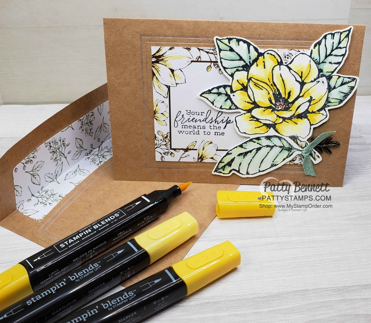 3 Magnolia Card Ideas with Stampin' Blends