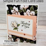 Good Morning Magnolia Simple Fold Card idea featuring Stampin