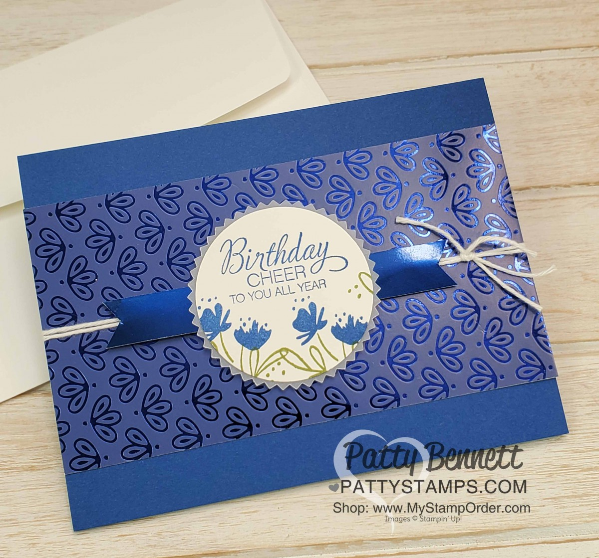 Noble Peacock Foil Birthday Card Idea Patty Stamps
