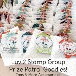 Tags and More accessory kits with Copper Dotted Treat Bags. Prize Patrol for the Luv 2 Stamp Group New Stampin