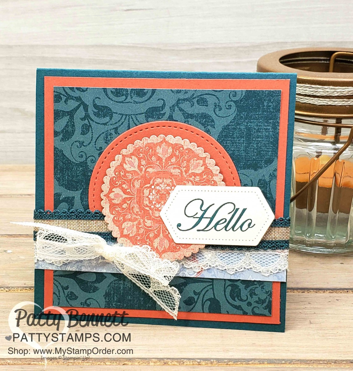5 Square Card Ideas with Woven Thread paper