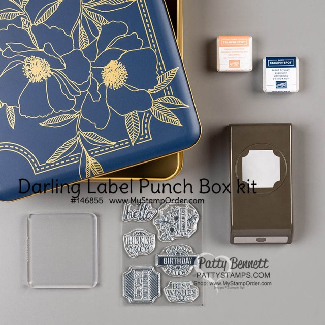 Stampin' UP! Darling Label Punch Box #146855 Patty Bennett www.PattyStamps.com