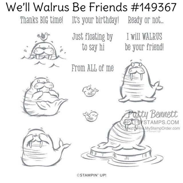 We'll Walrus be Friends stamp set from Stampin' Up!  #149367 www.MyStampOrder.com