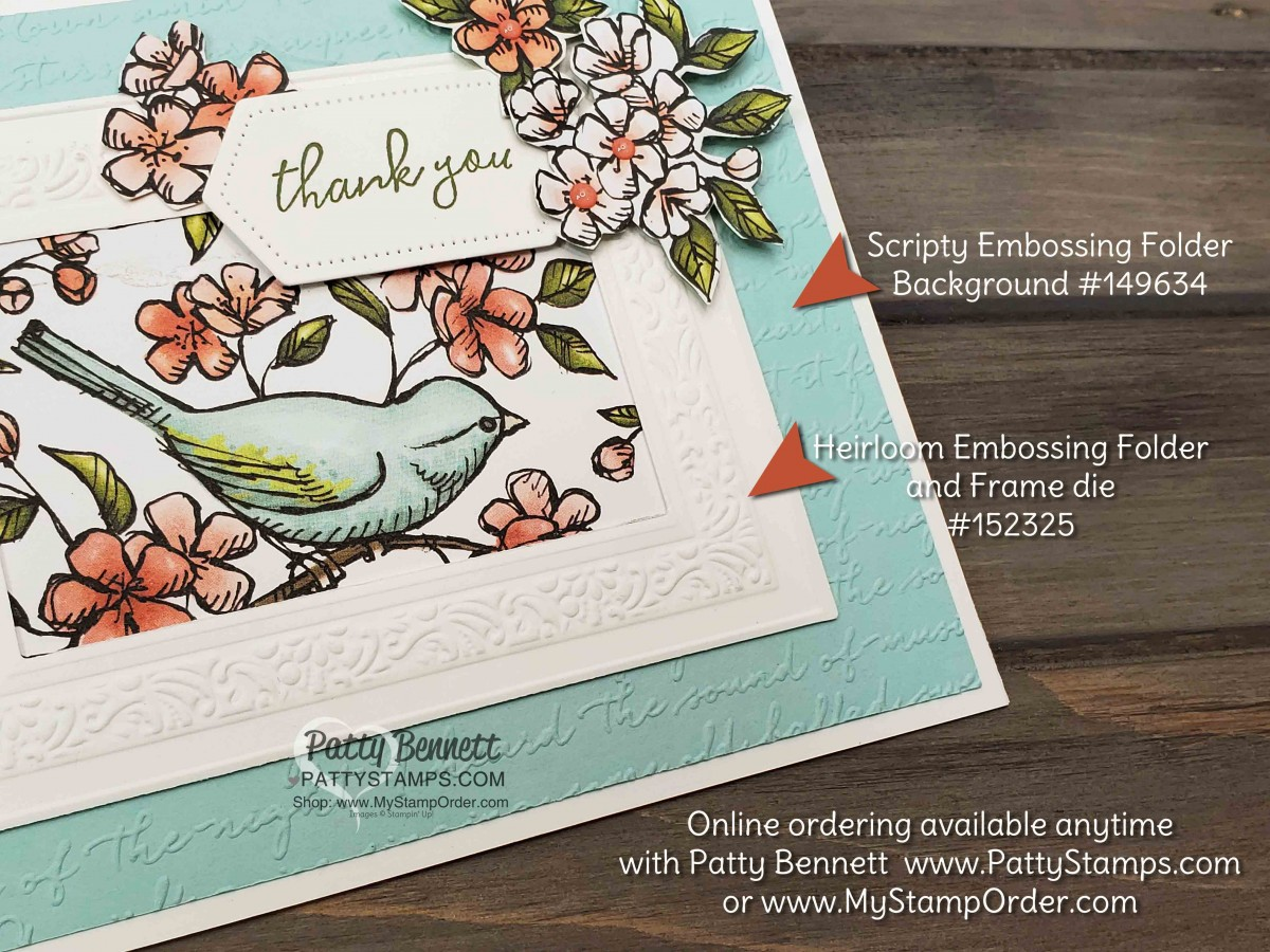Heirloom Frame Cards with Bird Ballad Designer Paper