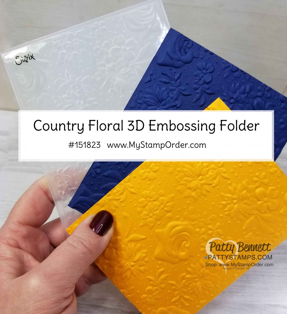 Country Floral Embossing Folder available again!
