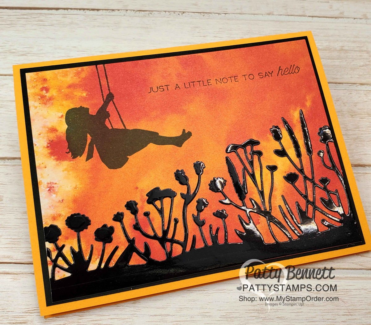 See a Silhouette background paper cards