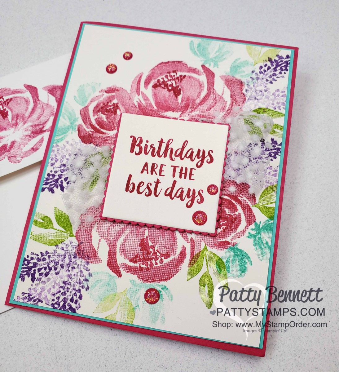 Beautiful Friendship Floral Card Idea Stampin' UP!