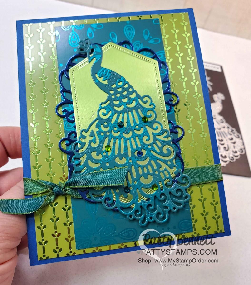 Noble Peacock Foil Card Ideas