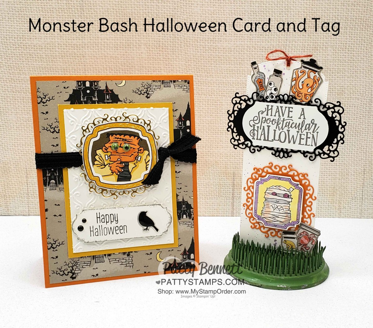 Halloween Monster Bash Card and Tag