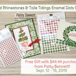 Free Gift with $44.44 purchase, celebrating 4,444 blog posts at pattystamps.com Sept. 12-15, 2019
