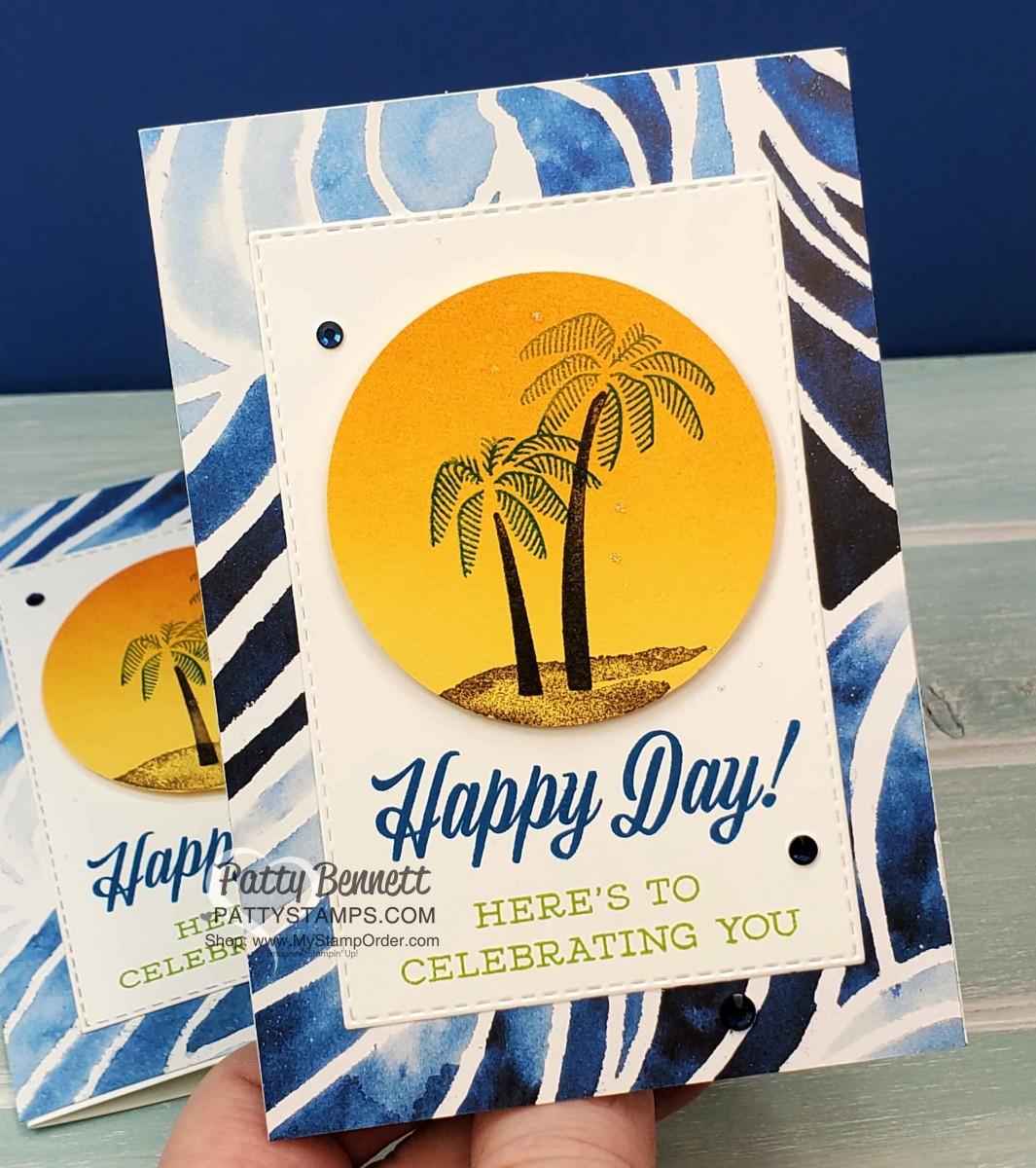 Palm Tree Congrats card for Maui Trip Achievers