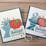 Harvest Hellos pumpkin fall card idea featuring Stampin