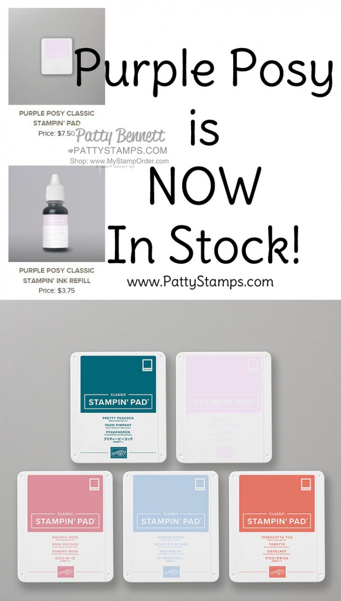 Purple Posy Ink Pad & Refill Now Available
