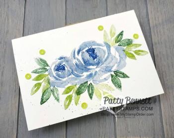 Blue Rose Beautiful Friendship Note Card