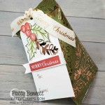 Sour Cream Twist Christmas Candy treat pouch featuring Stampin