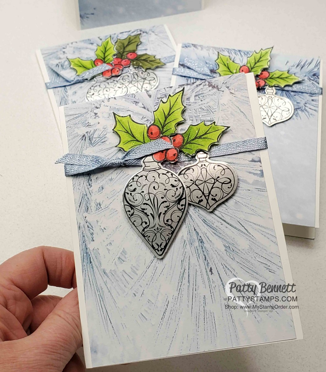 Holiday Card Idea With Christmas Gleaming Set Patty Stamps