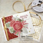 Christmastime is Here suite from Stampin Up - designer paper die cut with Roses die, Christmas Card idea featuring Subtle embossing folder, by Patty Bennett www.PattyStamps.com