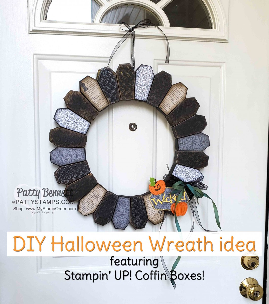 Tips For Making Coffin Box Halloween Wreath Patty Stamps