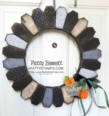 Tips for making Coffin Box Halloween Wreath