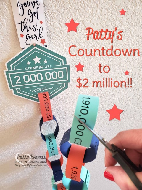 Patty Bennett's countdown to $2 million in personal career sales!! www.PattyStamps.com