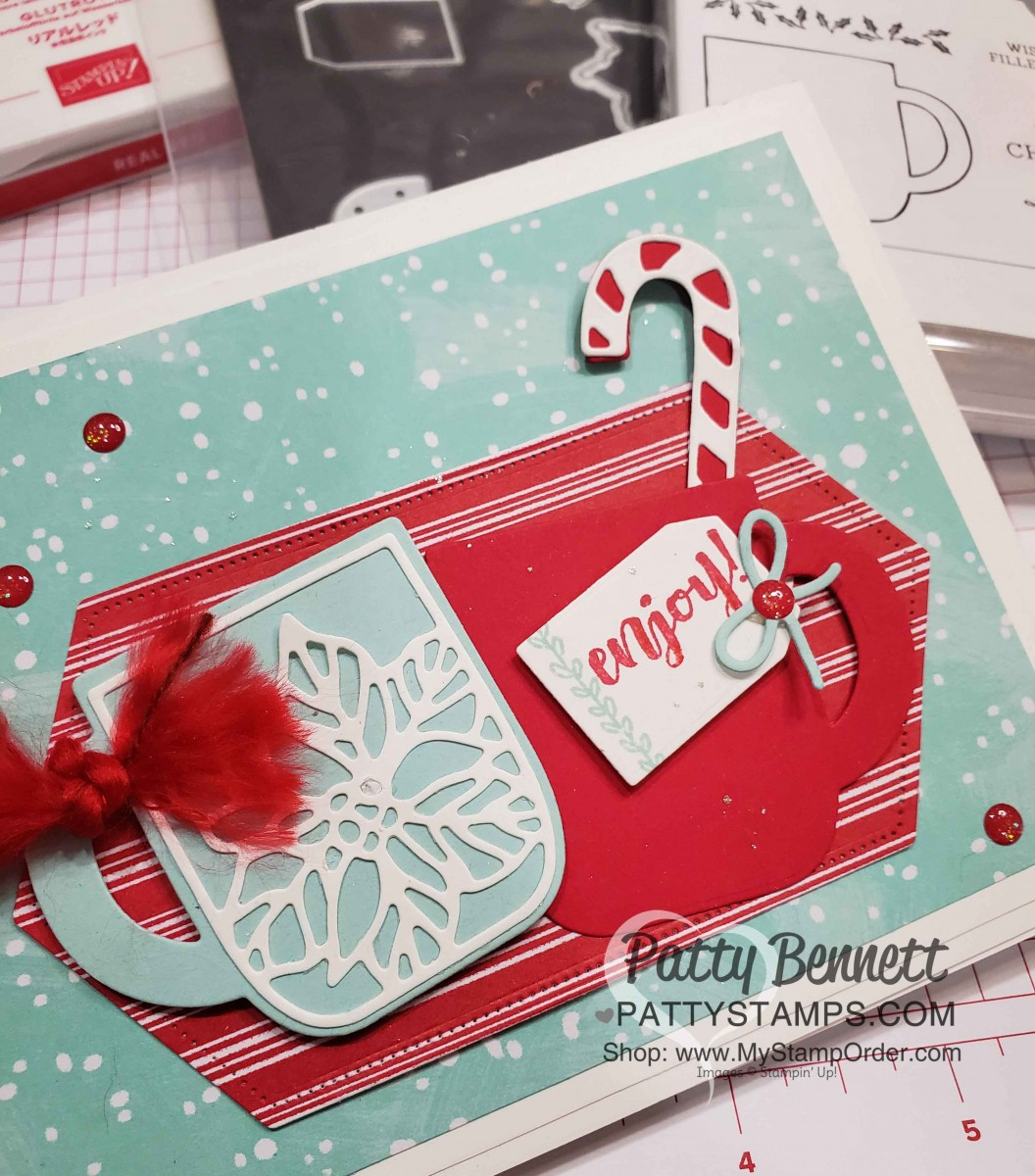 Cup Of Cheer Holiday Card Patty Stamps