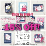 Just Discounted! !5% off! Everything is Rosy Medley bundle of paper crafting and card making products available now while supplies last! www.PattyStamps.com