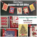 Stampin UP Night Before Christmas Banner kit - free gift offer with online purchase with Patty Bennett. Oct. 16 to 31, 2019. www.PattyStamps.com