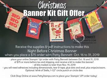 Night Before Christmas Banner Kit Offer