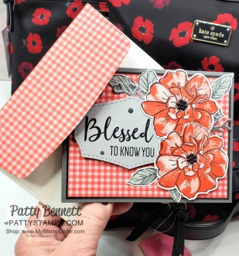 To a Wild Rose card matches Kate Spade Cosmetic Bags